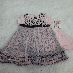 Nanette Baby Cheetah Dress Frilly 24MOS Nannette